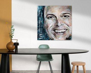 Porträtgemälde von Frans Bauer. von Therese Brals