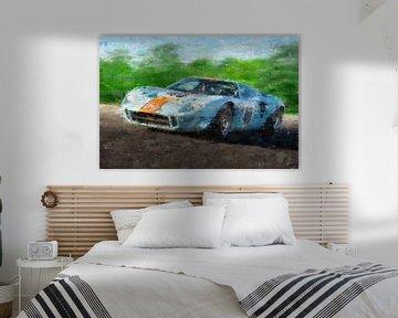Ford GT40 Gulf von Theodor Decker