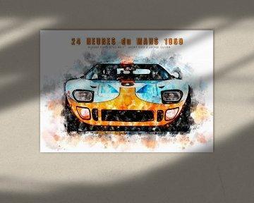 Ford GT40, Le Mans Sieger 1969 von Theodor Decker