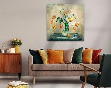 Blumenstrauss in Orange von Maaike Andrews