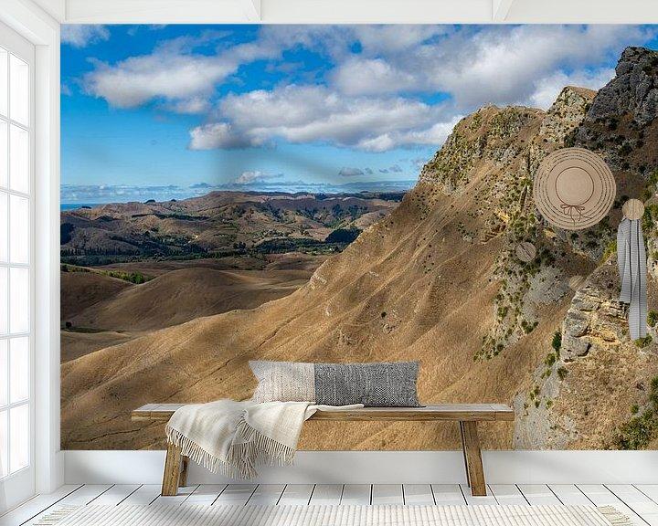 Sfeerimpressie behang: Te Mata Peak van Ton de Koning