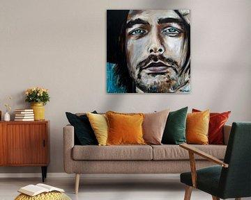 Porträtgemälde von Waylon, Willem Bijkerk. von Therese Brals