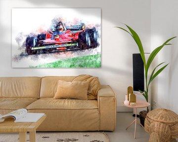Gilles Villeneuve, Ferrari No.12 von Theodor Decker