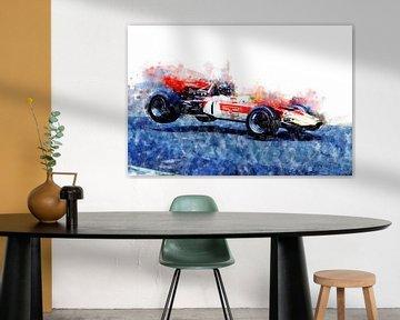 Graham Hill, Lotus Nürburgring Jump von Theodor Decker