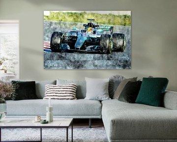 Lewis Hamilton, Mercedes, 2017 von Theodor Decker