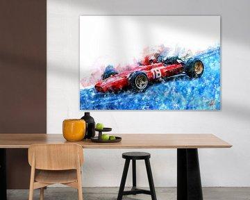 Lorenzo Bandini, Ferrari, Monaco 1967 von Theodor Decker