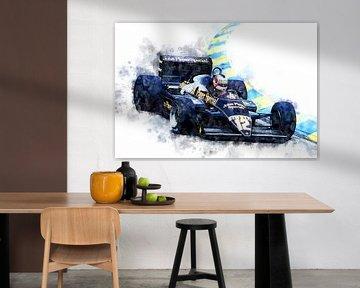Nigel Mansell, JPS Lotus von Theodor Decker