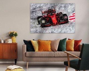 Sebastian Vettel, Ferrari 2019 van Theodor Decker