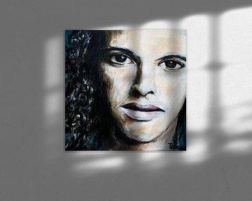 Porträtgemälde von Ali B. von Therese Brals
