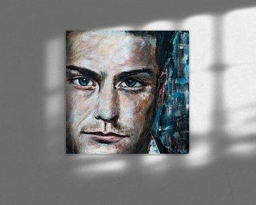 Porträtgemälde von Douwe Bob. von Therese Brals