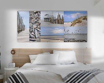 Collage Vlieland von Wies Steenaard