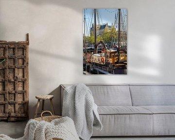 Alte Schiffe im Veerhaven Rotterdam von Jeroen Kleiberg