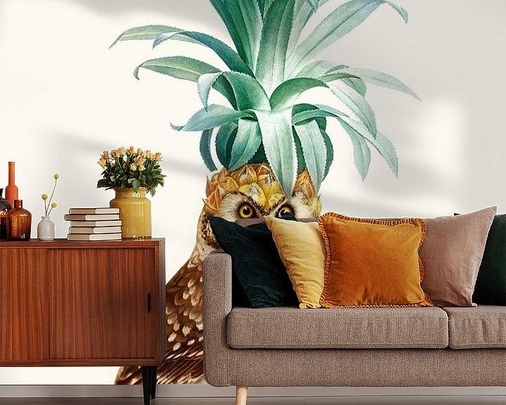 Beispiel fototapete: Ananas Eule von Jonas Loose
