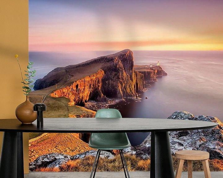 Sfeerimpressie behang: Neist Point - Ilse of Skye - Schotland van Remco Siero