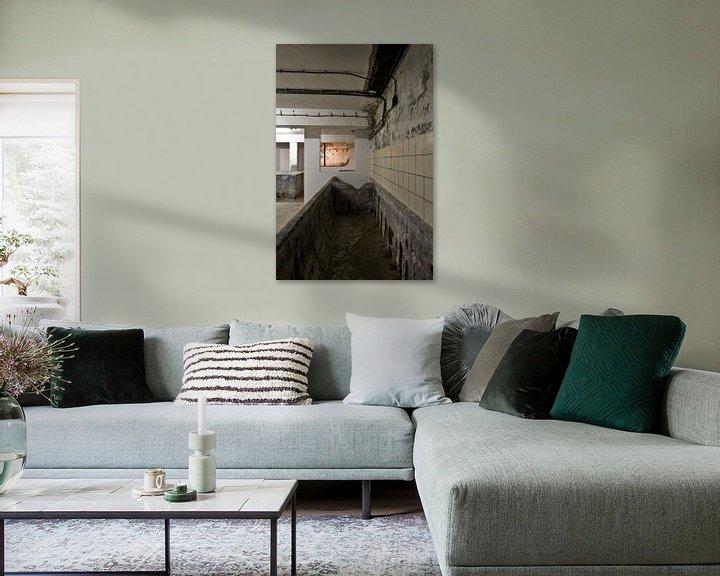 Beispiel: Foto im Keller einer alten Molkerei. von Therese Brals
