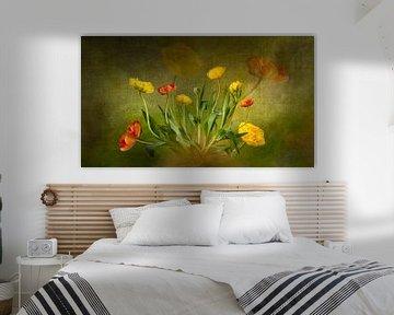 Pfingstrosen-Tulpen-Bouquet