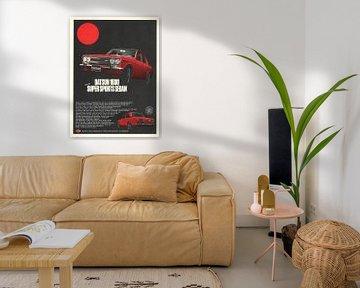 Vintage reclame DATSUN 1600 van Jaap Ros