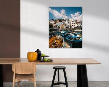 Vissershaven van Sant'Angelo op het Italiaanse eiland Ischia