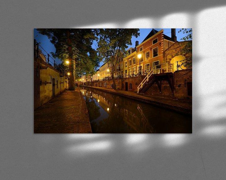 Sfeerimpressie: Nieuwegracht in Utrecht tussen Pausdambrug en Paulusbrug van Donker Utrecht