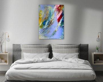 """Abstrakte Malerei  """" Leichtigkeit 1 """" von Claudia Gründler"""