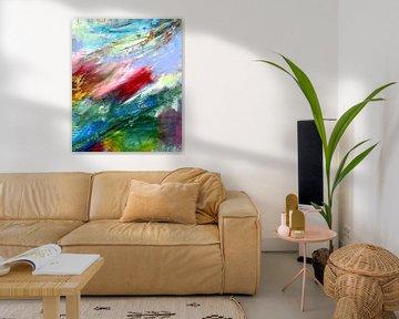 """Abstrakte Malerei  """" Leichtigkeit 2 """" von Claudia Gründler"""