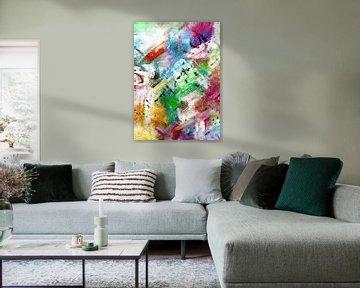 """Abstrakt """" Farben des Frühlings """" von Claudia Gründler"""