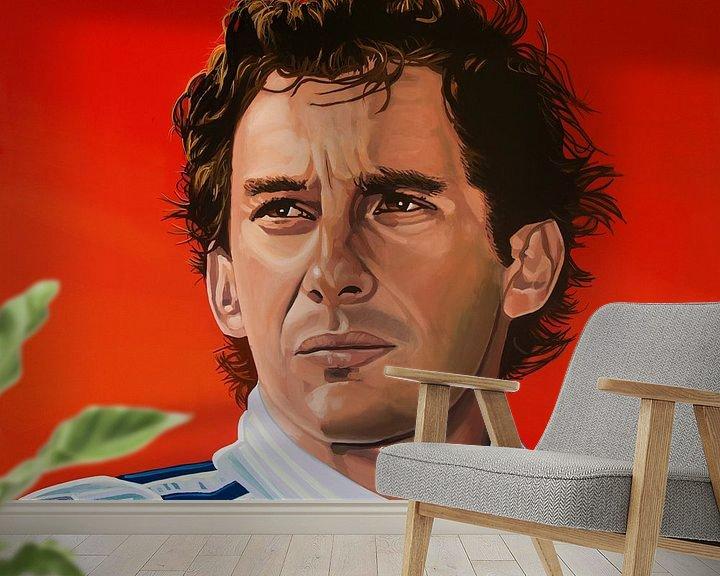 Beispiel fototapete: Ayrton Senna Malerei von Paul Meijering