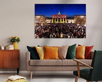 """Brandenburger Tor met """"Berlijn""""-Projectie"""