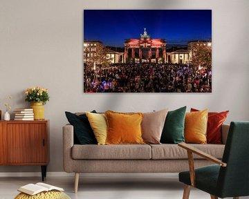Berlin, Brandenburger Tor in besonderem Licht von Frank Herrmann