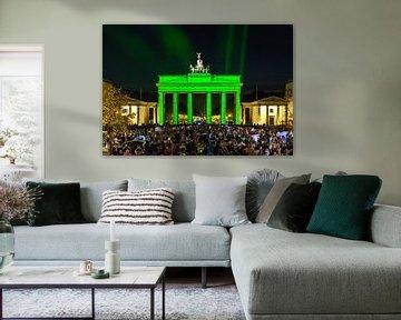 Brandenburger Tor in grün von Frank Herrmann