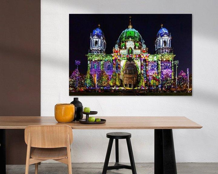 Sfeerimpressie: De Berlijnse Dom in speciale verlichting van Frank Herrmann