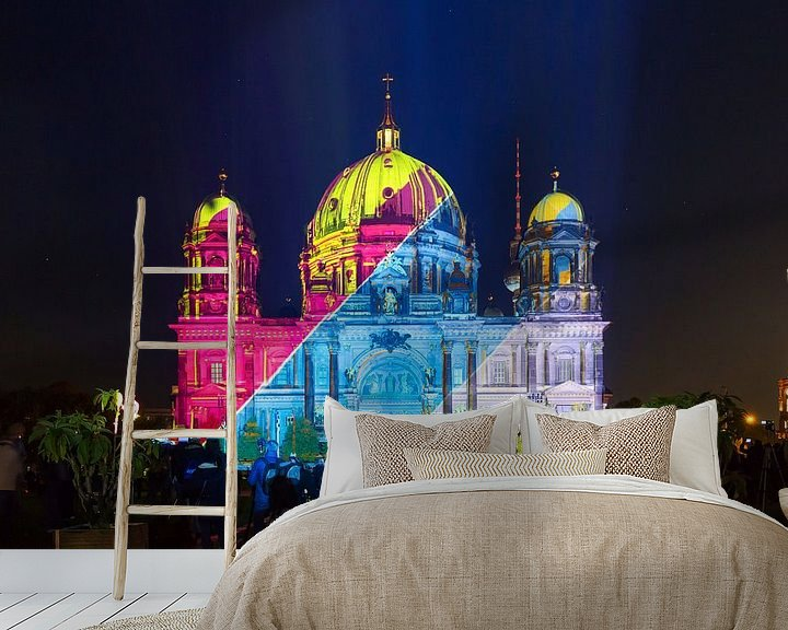Sfeerimpressie behang: De Berlijnse Dom in speciale verlichting van Frank Herrmann