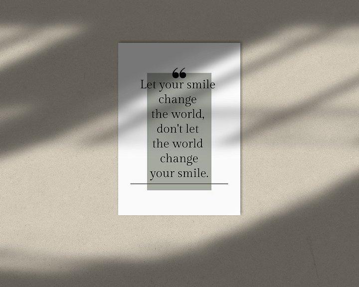 """Impression: Affiche """"Laissez votre sourire"""" dans toutes les couleurs possibles ! sur by Tessa"""