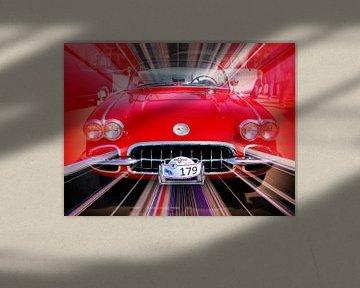 Corvette Abstract van Nicky`s Prints