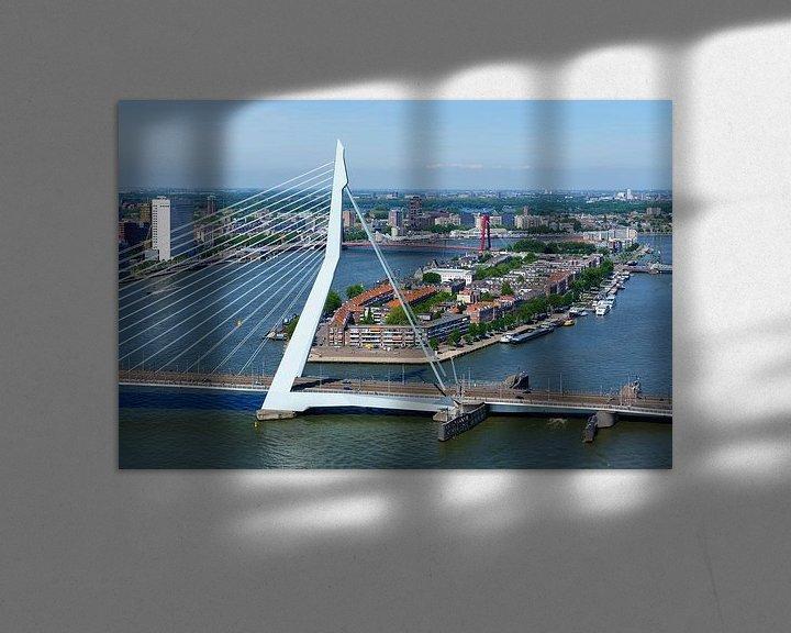 Impression: Le pont Erasmus et l'île du Nord sur Mark De Rooij