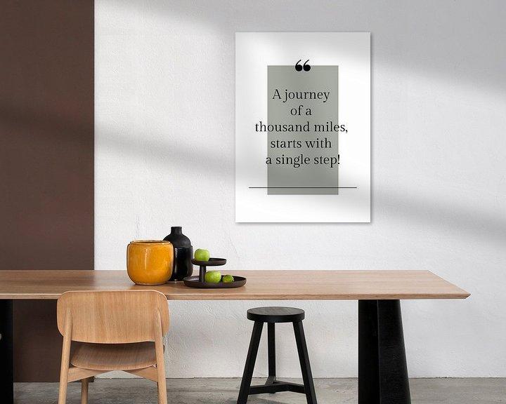 Beispiel: Poster 'Journey' in allen möglichen Farben! von Design by Tessa