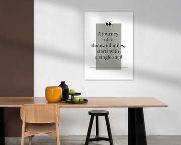 Poster 'Journey' in alle mogelijke kleuren! van Design by Tessa