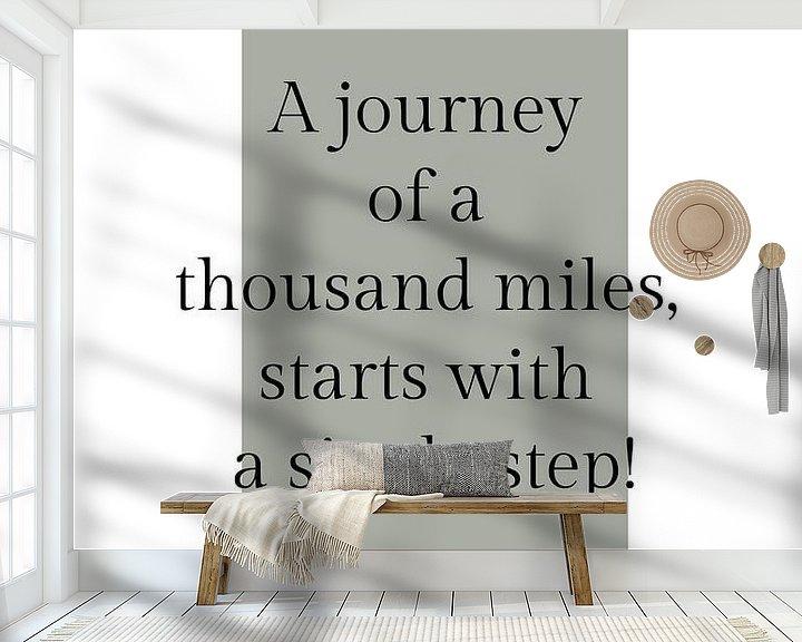 Beispiel fototapete: Poster 'Journey' in allen möglichen Farben! von Design by Tessa