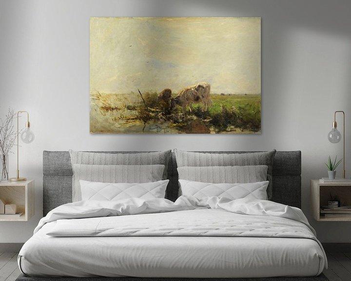 Impression: Vaches à l'étang (1880-1910), Willem Maris sur Atelier Liesjes