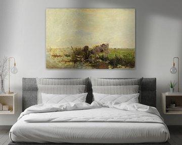 Kühe an einem Teich (1880-1910), Willem Maris