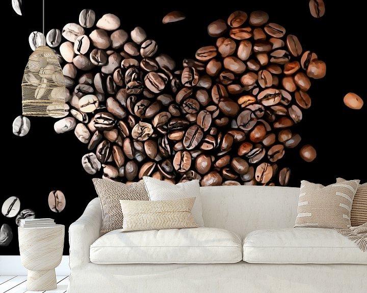 Beispiel fototapete: Liebe zum Kaffee von Dominique van Ojik