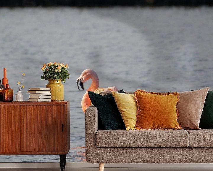 Beispiel fototapete: Flamingo von Merijn Loch