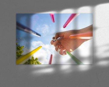 Verschillende kleuren potloden van Bram Jansen