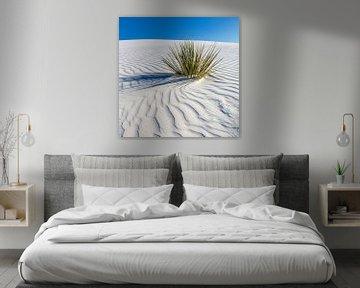 Golftekening van de duinen, White Sands National Monument van Melanie Viola