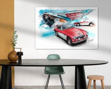 Austin Healey 3000 Mk III - 1964 (red/white)