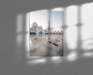 Sheikh Zayed Moskee (Abu Dhabi) in de avond / golden hour van Michiel Dros