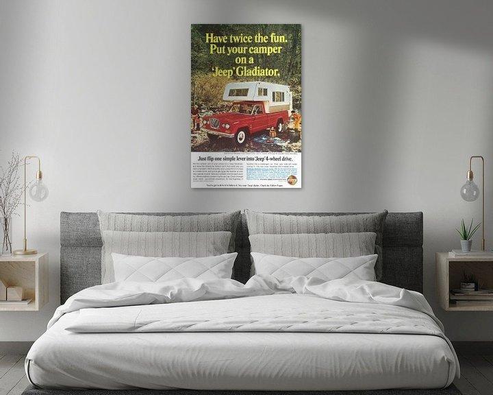 Beispiel: Werbung für Jeep Gladiator 60er Jahre von Jaap Ros