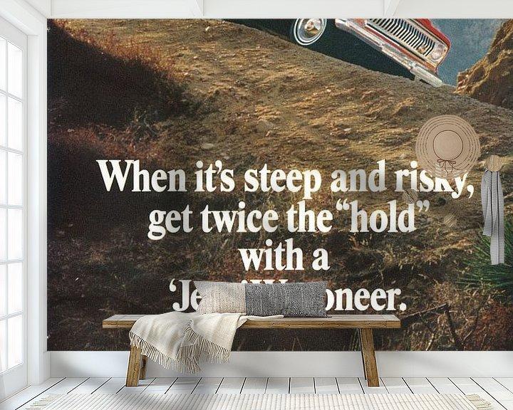 Beispiel fototapete: Jeep Wagoneer-Werbung 60er Jahre von Jaap Ros