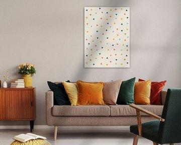 Dreiecksmuster - Abstraktes Muster drucken von MDRN HOME