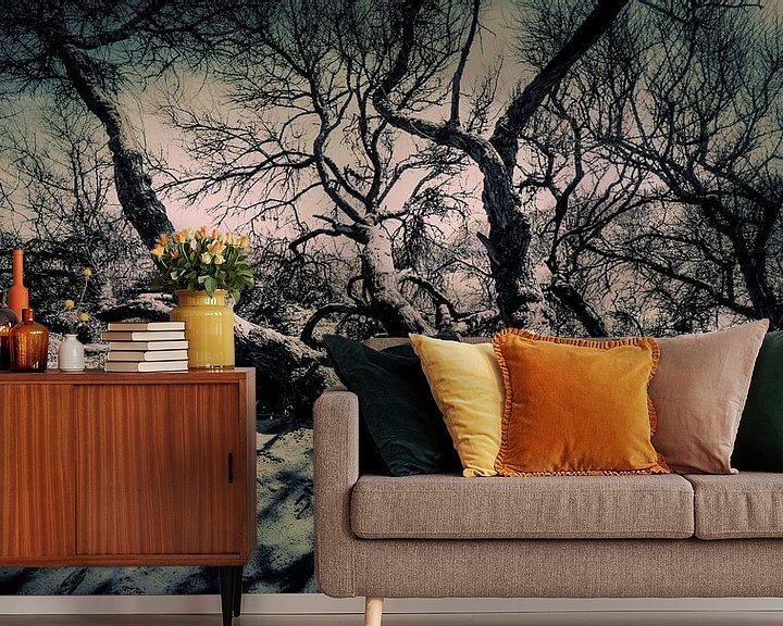 Sfeerimpressie behang: 0724 Creepy Dunes van Adrien Hendrickx